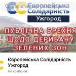 """Ужгородська """"Європейська Солідарність"""" опинилась в центрі земельно-дерибанного скандалу (Документ)"""