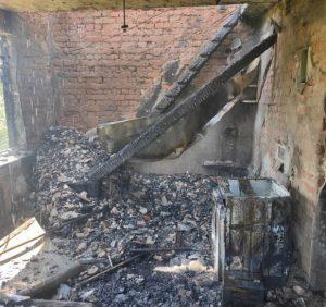 Під Ужгородом вогняна стихія знищила дачний будинок