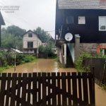 У Рахові через значні опади підтоплені дворогосподарства