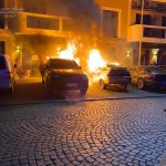 Під ранок в центрі Ужгорода горіли три автомобілі (фото)