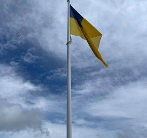 На вершині Карпат підняли прапор України
