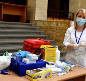 У адмінбудинку Закарпатської облради облаштували Центр масової вакцинації